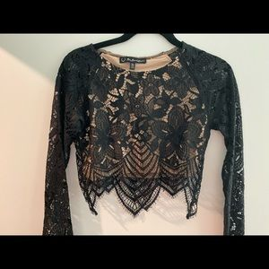 For love and lemons crop long sleeve